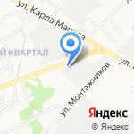 Колесница на карте Ангарска