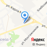 СТО на карте Ангарска