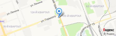 АЗС БРК на карте Ангарска