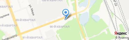 АЗС на карте Ангарска