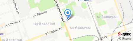 Ладвери на карте Ангарска