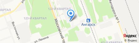 Привокзальный-1 на карте Ангарска