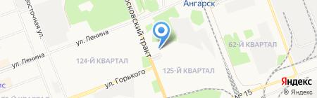 Новатор на карте Ангарска
