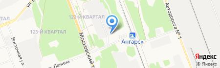 Привокзальный-2 на карте Ангарска