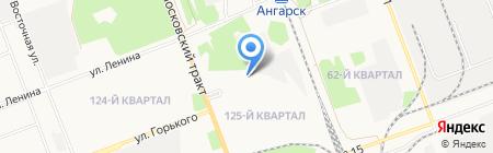 Лесной двор на карте Ангарска