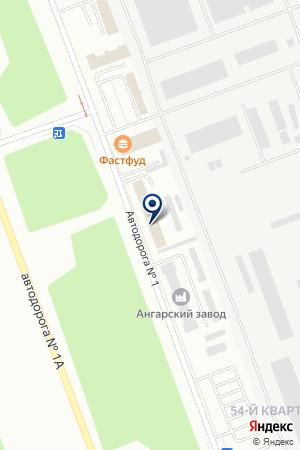 Строфа на карте Ангарска