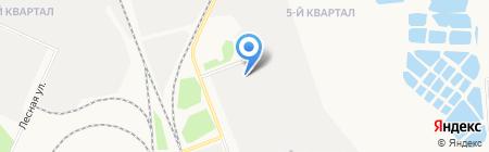 Ангарский азотно-туковый завод на карте Ангарска