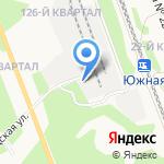 Удокан на карте Ангарска