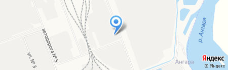 Иркутский трубный завод на карте Ангарска