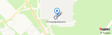 Ангарская птицефабрика на карте Ангарска