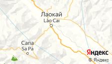 Отели города Лаокай на карте