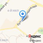 Киоск по продаже хлебобулочных изделий на карте Шелехова