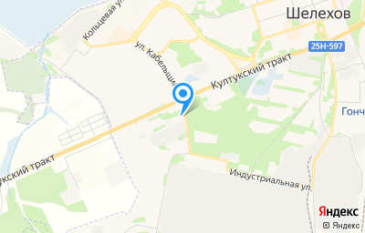 Местоположение на карте пункта техосмотра по адресу Иркутская обл, г Шелехов, ул Кабельщиков, д 1