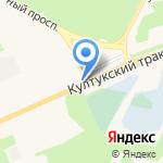 Росско на карте Шелехова