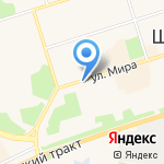 Киоск по продаже бытовой химии на карте Шелехова