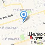 Капитошка на карте Шелехова