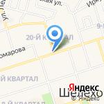 Киоск по продаже фруктов и овощей на карте Шелехова
