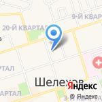 Центральная детская библиотека г. Шелехова на карте Шелехова