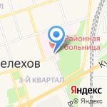 Поликлиника №1 на карте Шелехова