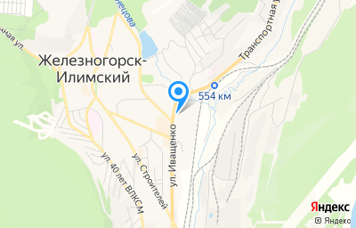 Местоположение на карте пункта техосмотра по адресу Иркутская обл, г Железногорск-Илимский, ул Иващенко, д 20Б