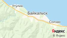 Гостиницы города Байкальск на карте