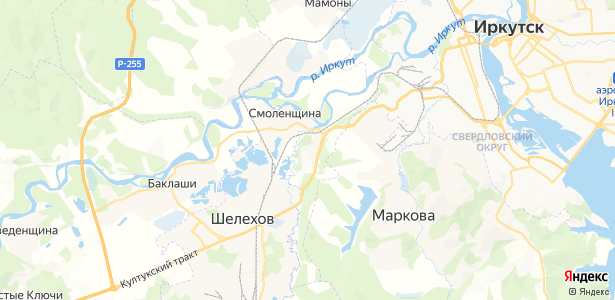Смоленщина на карте