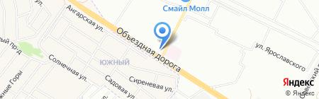 Альбатрос на карте Иркутска