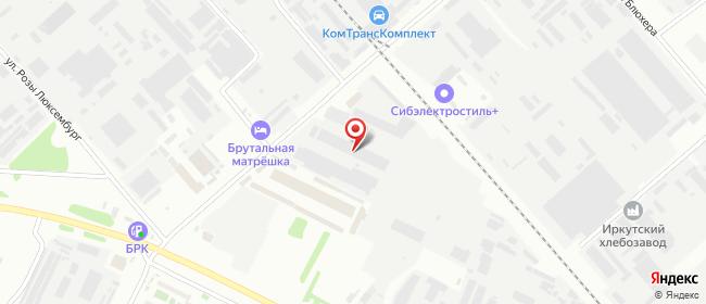 Карта расположения пункта доставки DPD Pickup в городе Иркутск