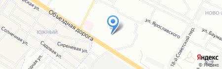 Василек на карте Иркутска