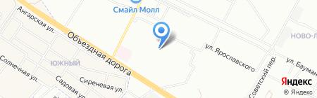 Детский сад №168 на карте Иркутска