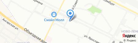 Хлебное местечко на карте Иркутска