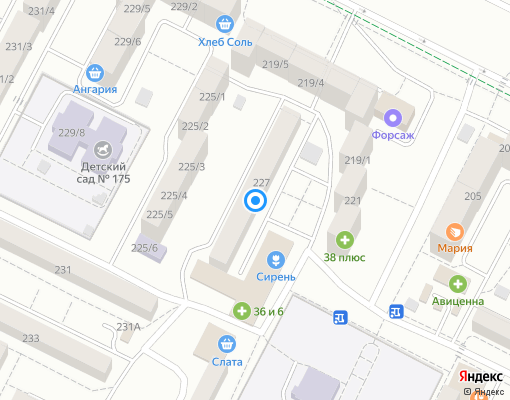 Управляющая компания «Союз» на карте Иркутска