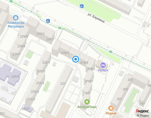 Товарищество собственников жилья «Спутник» на карте Иркутска
