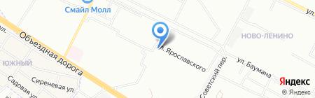 Киоск по продаже мороженого на карте Иркутска