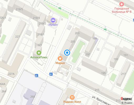 Управляющая компания «КВАРТАЛ» на карте Иркутска
