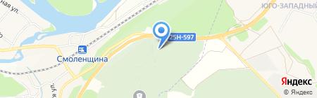 Береза на карте Иркутска