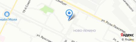 Средняя общеобразовательная школа №53 на карте Иркутска