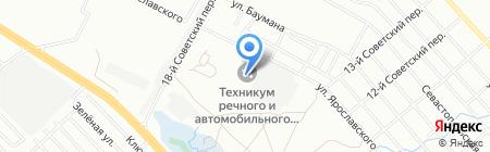 Иркутский техникум речного и автомобильного транспорта на карте Иркутска