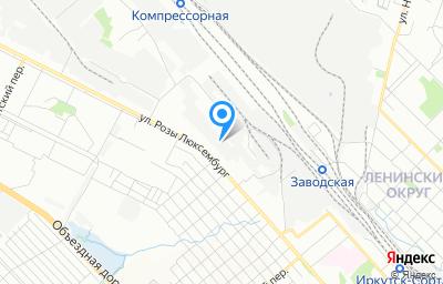 Местоположение на карте пункта техосмотра по адресу г Иркутск, ул Розы Люксембург, д 162А