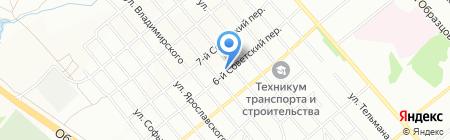 Средняя общеобразовательная школа №45 на карте Иркутска