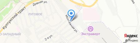 Станция кузовного ремонта на карте Иркутска