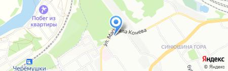 Радужка на карте Иркутска