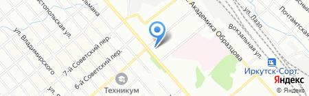 Средняя общеобразовательная школа №7 на карте Иркутска
