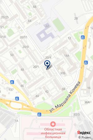 Телец на карте Иркутска