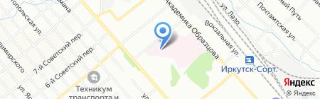 Иркутский на карте Иркутска
