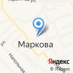 СОЦИАЛЬНО-КУЛЬТУРНЫЙ ЦЕНТР МАРКОВСКОГО МУНИЦИПАЛЬНОГО ОБРАЗОВАНИЯ на карте Марковой