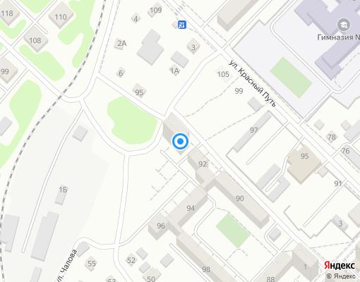 Товарищество собственников недвижимости «Виктория» на карте Иркутска