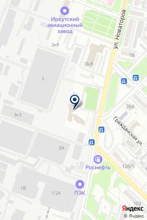 СБЕРЕГАТЕЛЬНЫЙ БАНК РФ № 8586/0139 на карте Иркутска