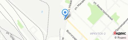 Ориола на карте Иркутска