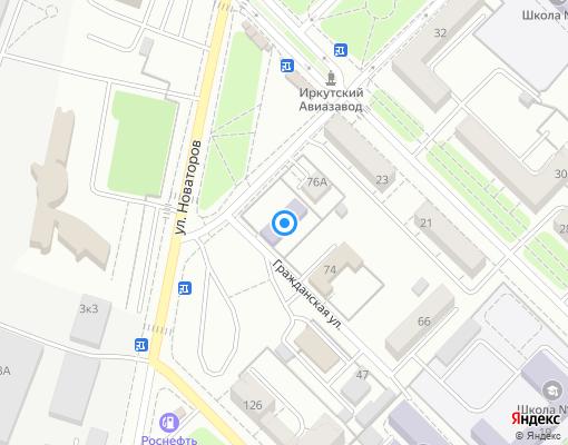 Товарищество собственников жилья «ЛУЧ» на карте Иркутска